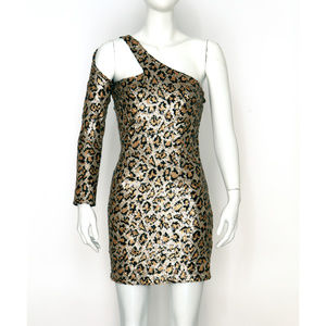 NWT Sexy Topshop Leopard Sequin Dress
